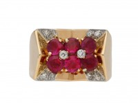 Boucheron Burmese ruby diamond ring berganza hatton garden