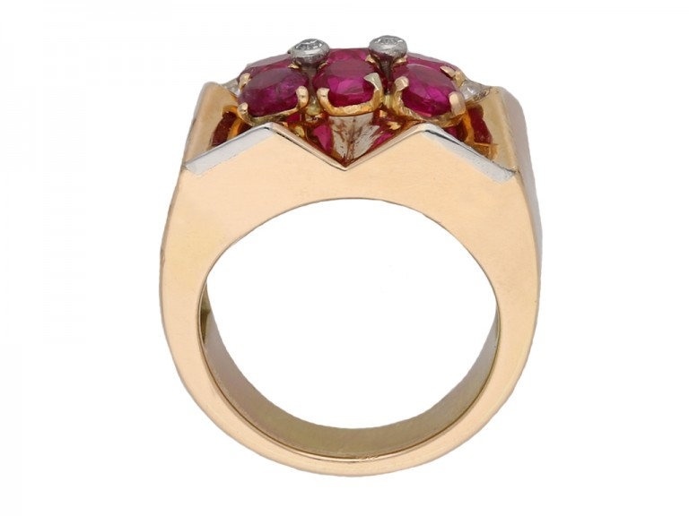 Boucheron Burmese ruby diamond ring berganza hatton garden