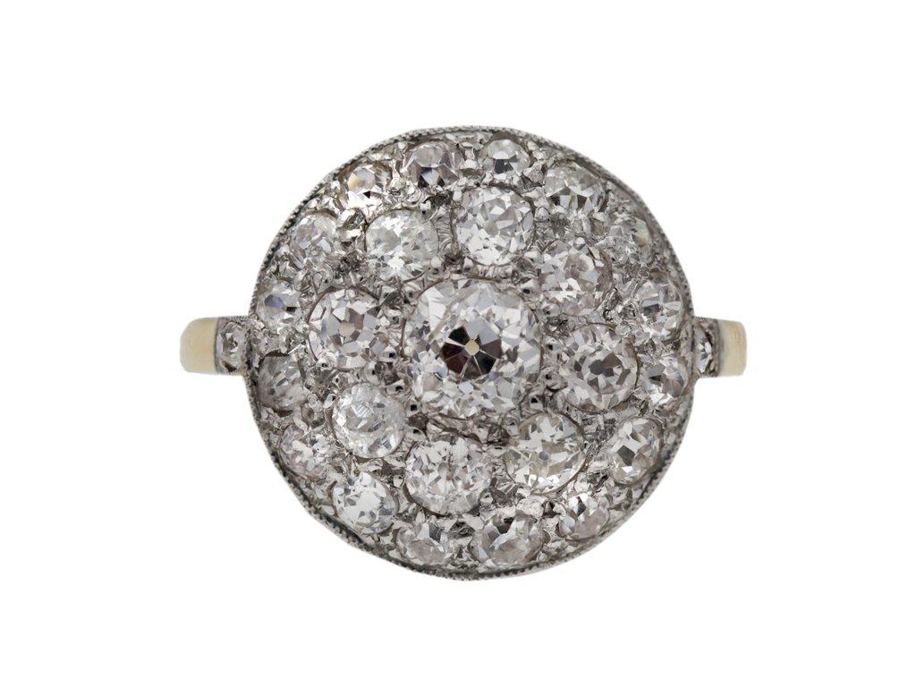 Diamond cluster ring berganza hatton garden