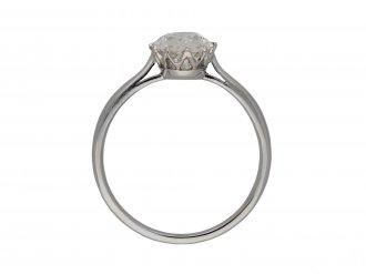 Solitaire old mine diamond ring berganza hatton garden