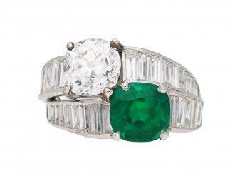 Tiffany & Co. emerald  diamond ring berganza hatton garden
