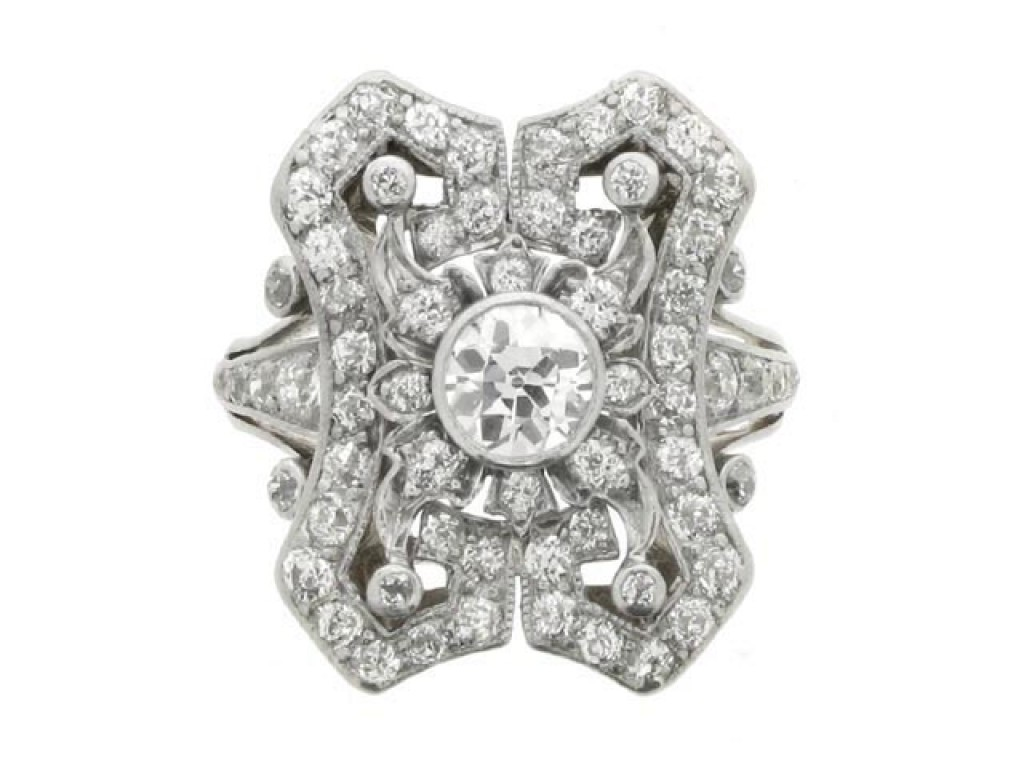 Antique diamond cluster ring, circa 1910. berganza hatton garden