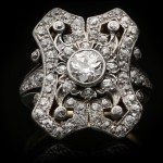 Antique diamond cluster ring, circa 1910.