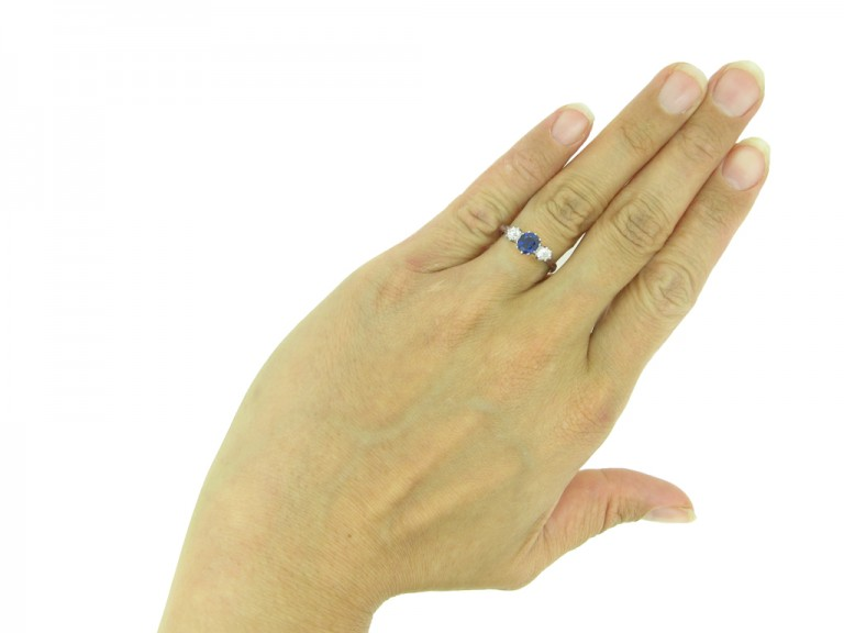 Sapphire and diamond engagement ring berganza hatton garden