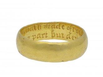 Gold posy ring Hatton garden