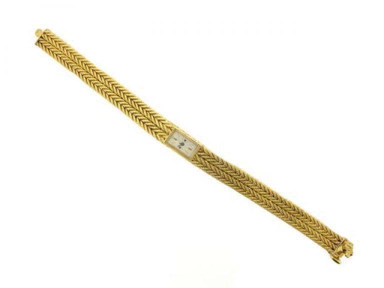 Yellow gold wrist watch by Hermes berganza hatton garden