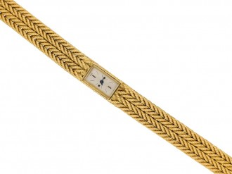 Yellow gold wrist watch by Hermes berganza hatton garden