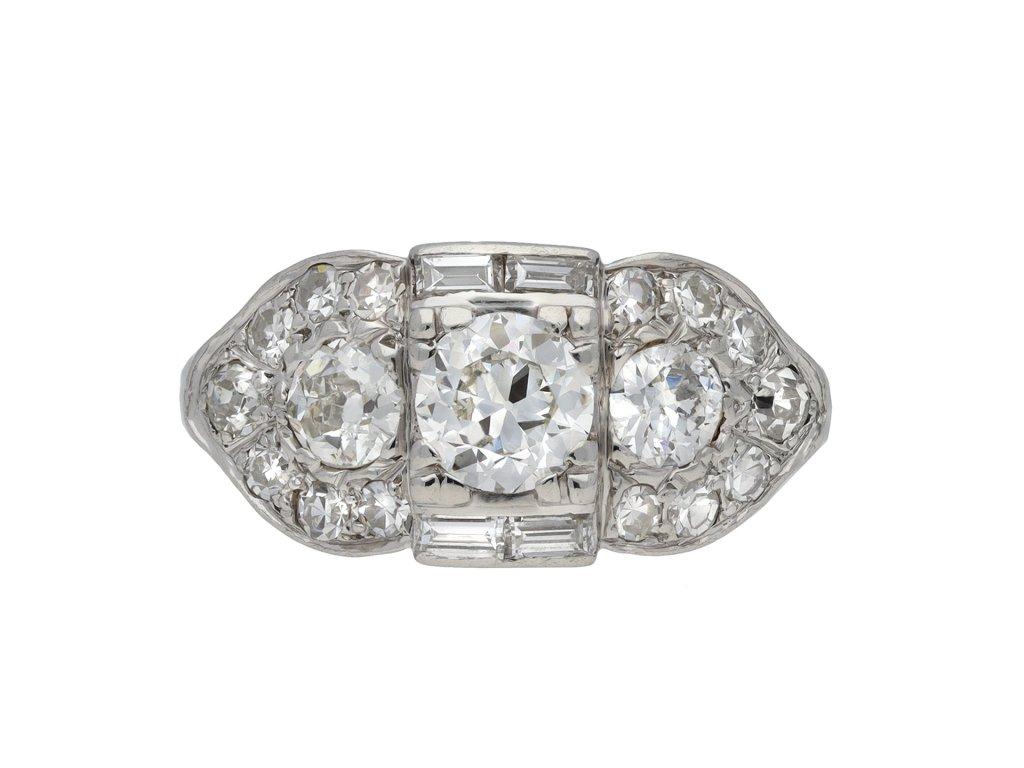 Ornate diamond cluster ring berganza hatton garden
