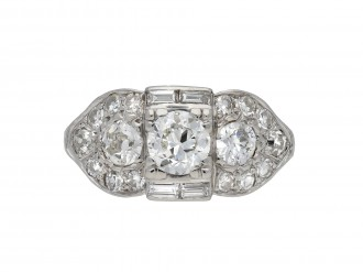 Ornate diamond cluster ring berganza hatton garden