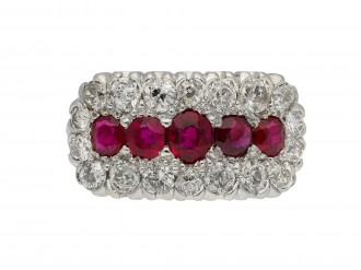 Burmese ruby and diamond ring berganza hatton garden