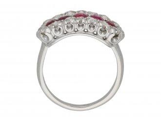 Burmese ruby and diamond ring berganza hatton garden