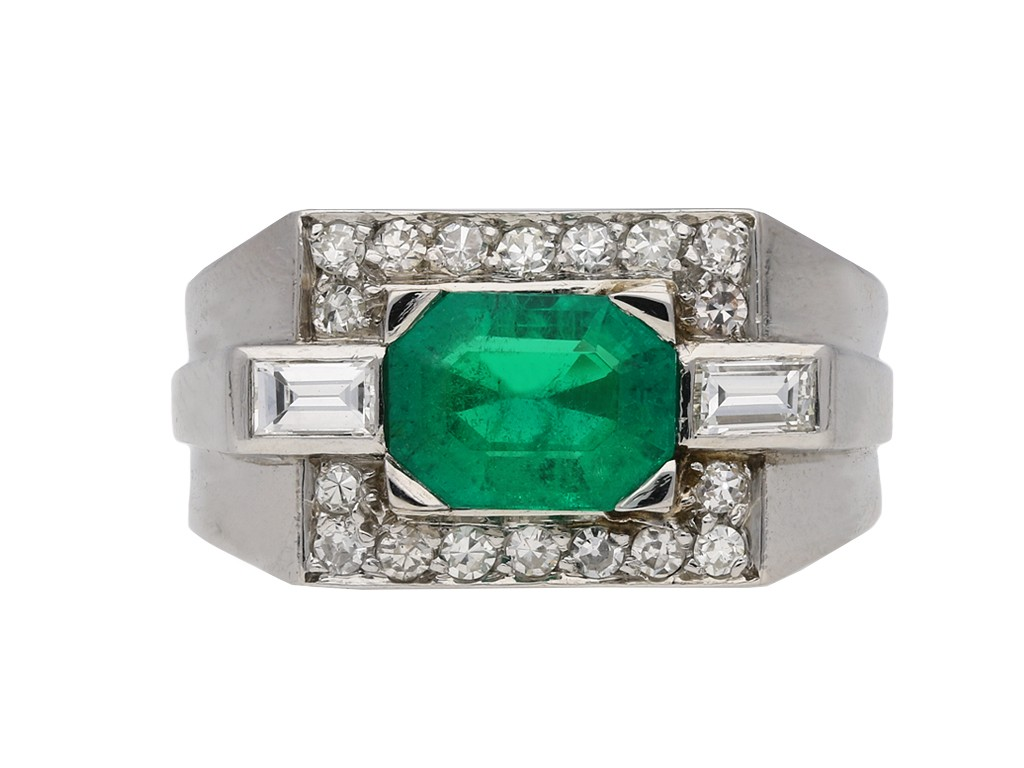 Colombian emerald diamond cocktail ring berganza hatton garden