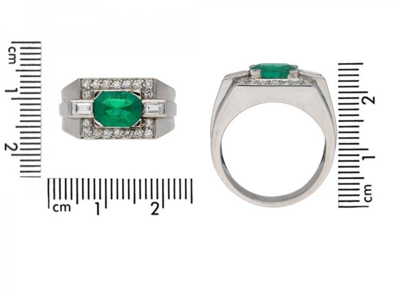 Colombian emerald diamond cocktail ring berganza hatton garden