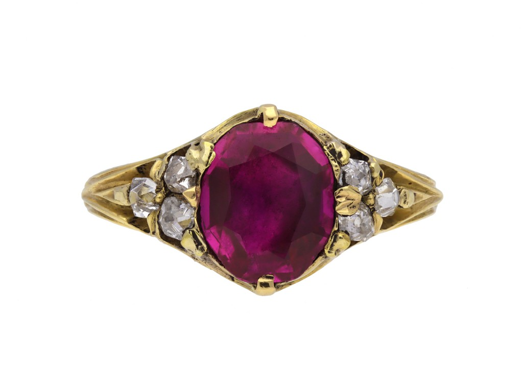 Victorian ruby and diamond ring hatton garden berganza