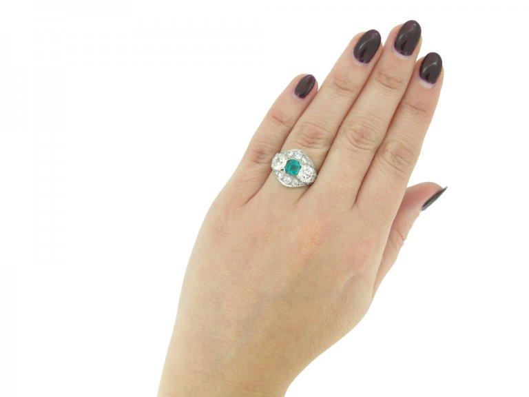 Emerald and diamond ring berganza hatton garden