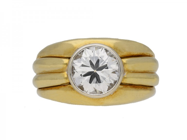 Solitaire diamond ring by Boucheron Paris berganza hatton garden