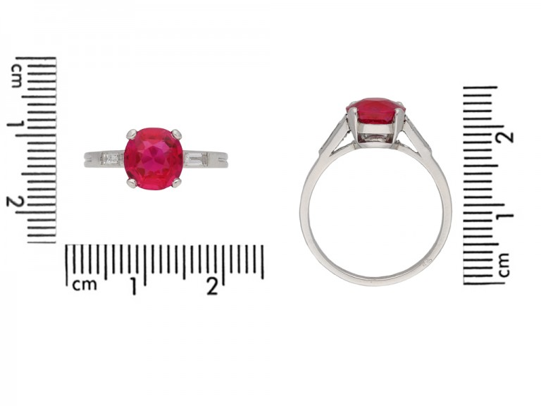 Burmese ruby diamond ring Boucheron berganza hatton garden