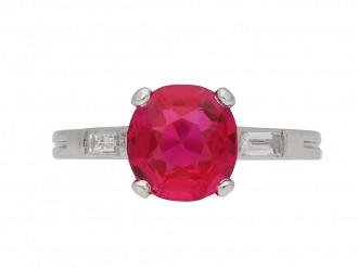 Burmese ruby diamond ring Boucheron berganza hatton garden