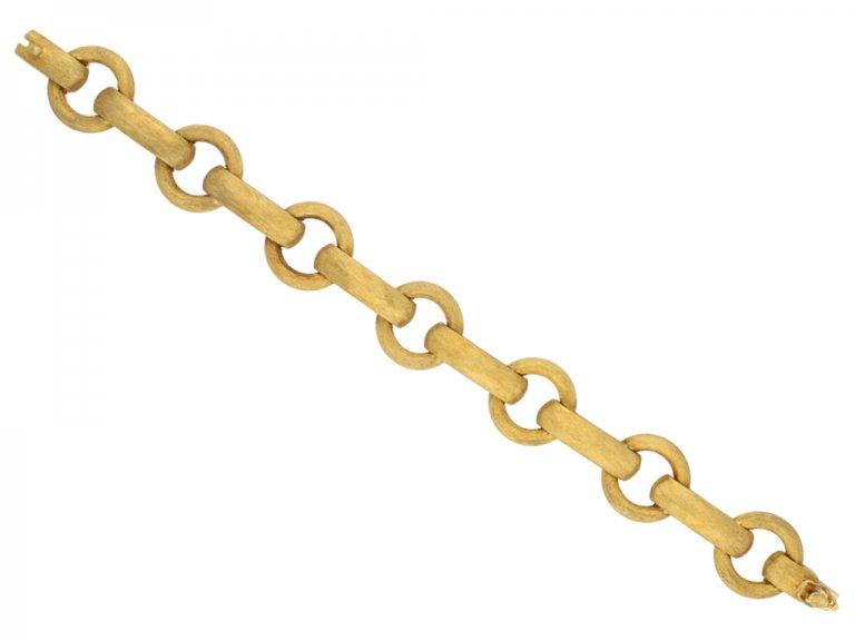 18 carat gold link bracelet berganza hatton garden