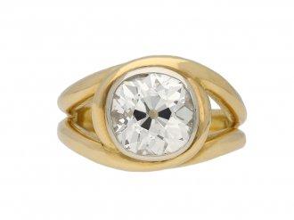 Vintage solitaire diamond ring hatton garden