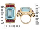 antique diamond aquamarine ring berganza hatton garden