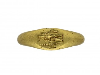Ancient Roman signet ring, 2nd 3rd century berganza hatton garden