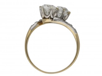 Edwardian diamond crossover ring berganza hatton garden