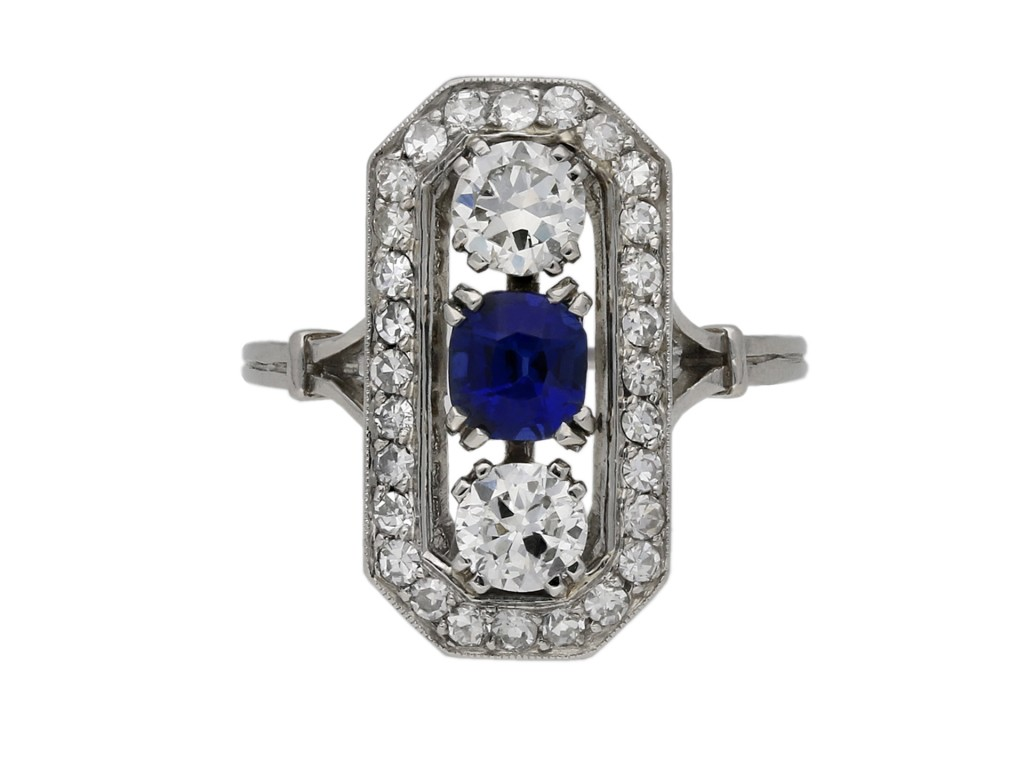 Sapphire and diamond ring berganza hatton garden