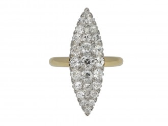 marquise shaped diamond cluster ring berganza hatton garden