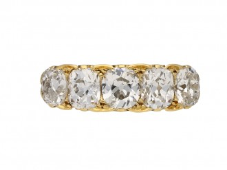 Antique five stone diamond ring, circa 1890.