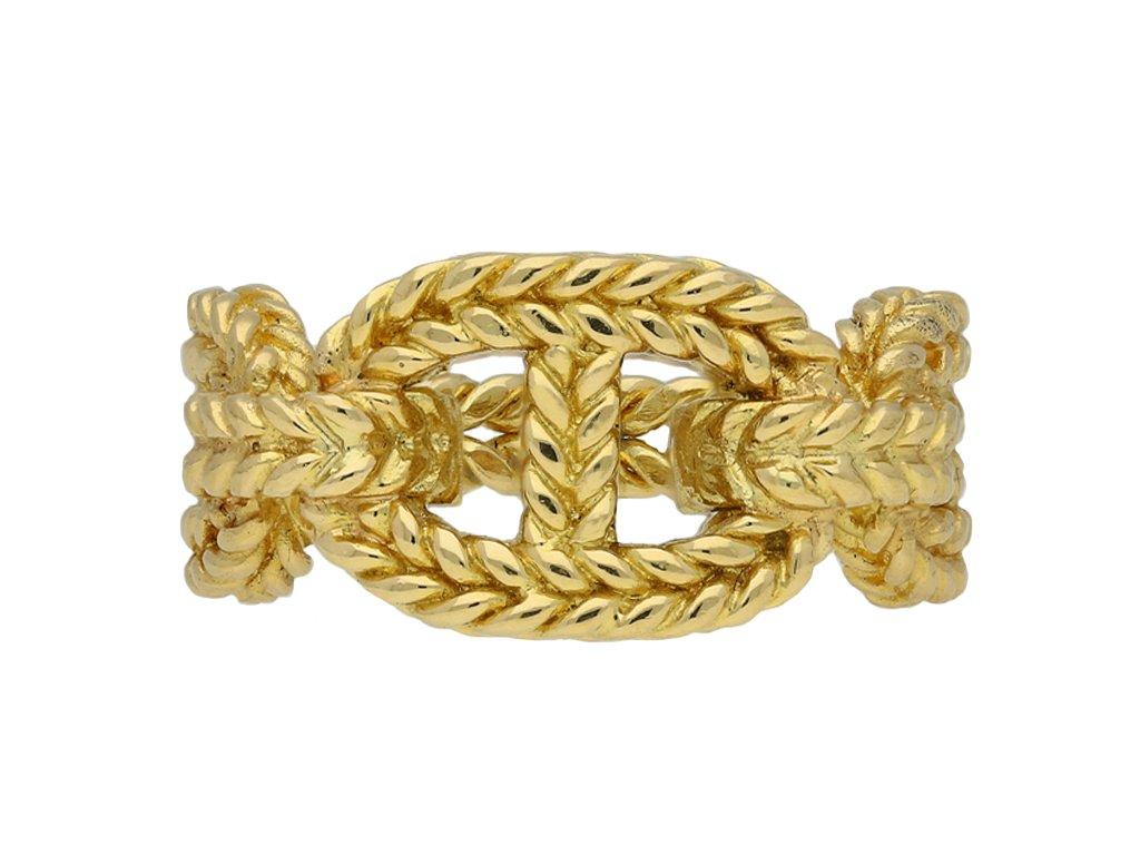 Hermes 18 carat yellow gold ring berganza hatton garden