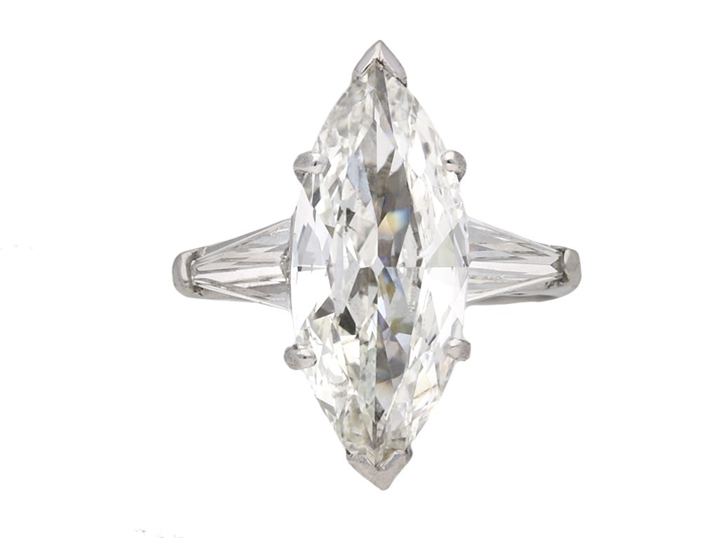 Vintage marquise shape diamond ring berganza hatton garden