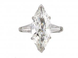 Vintage marquise shape diamond ring berganza hatton garden