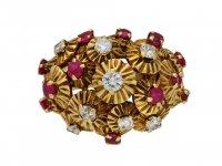 Ruby and diamond dress ring berganza hatton garden