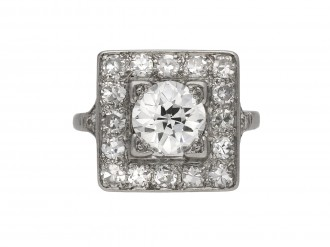 Art Deco diamond coronet cluster ring berganza hatton garden