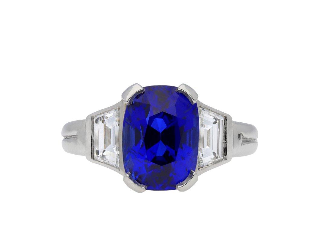 Burmese sapphire and diamond ring hatton garden