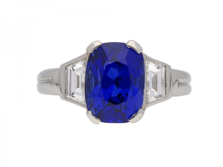Natural Burmese sapphire and diamond ring berganza hatton garden