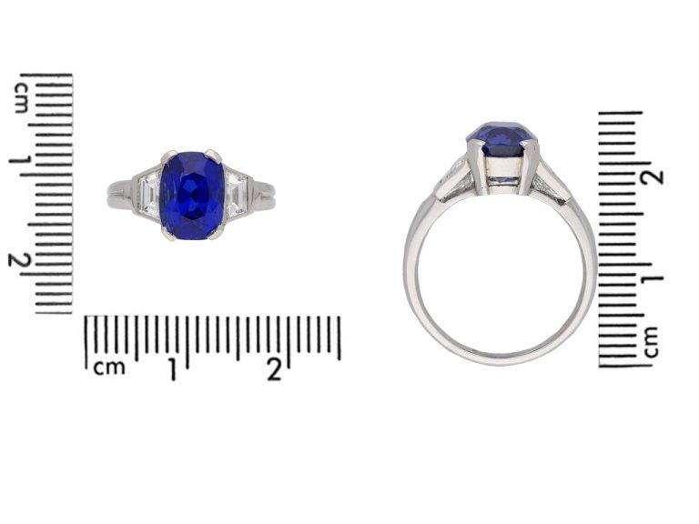 Natural Burmese sapphire and diamond ring berganza hatton garden