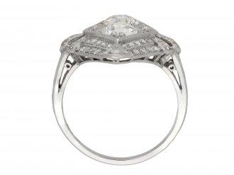 Marquise shape diamond cluster ring berganza hatton garden