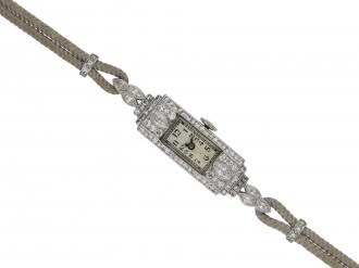 Art Deco diamond wristwatch berganza hatton garden