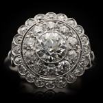 Art Deco diamond cluster ring, circa 1920.