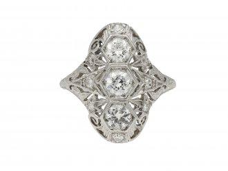 Three stone diamond cluster ring berganza hatton garden