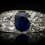 Sapphire and diamond ring, circa 1920.
