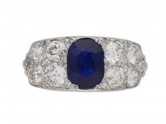 Sapphire and diamond ring, circa 1920 berganza hatton garden