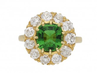Antique tourmaline and diamond ring berganza hatton garden