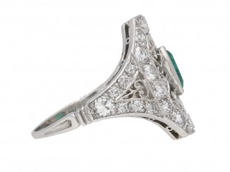 Ornate emeralddiamond cluster ring berganza hatton garden