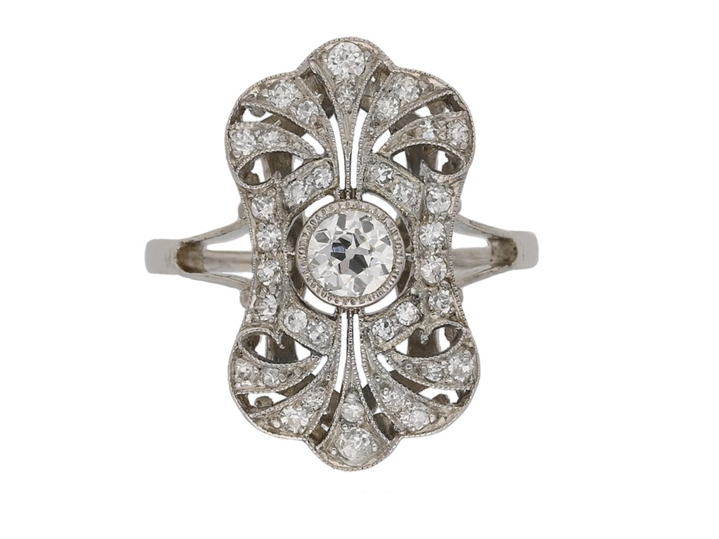 antique diamond cluster ring berganza hatton garden berganza