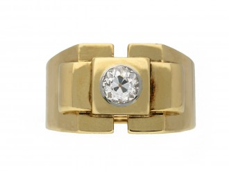 Boucheron Paris diamond solitaire dress ring,
