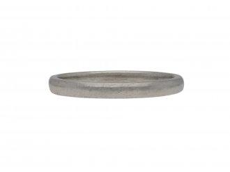 Court shape wedding ring in platinum berganza hatton garden
