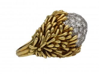 Hammerman Brothers diamond cluster ring berganza hatton garden